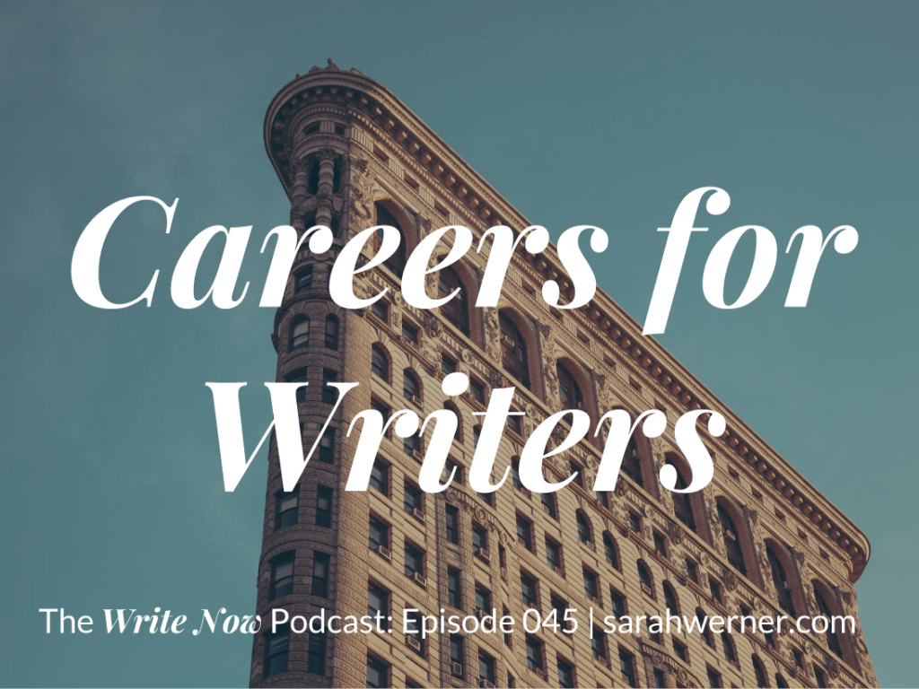 Careers for Writers Title Card