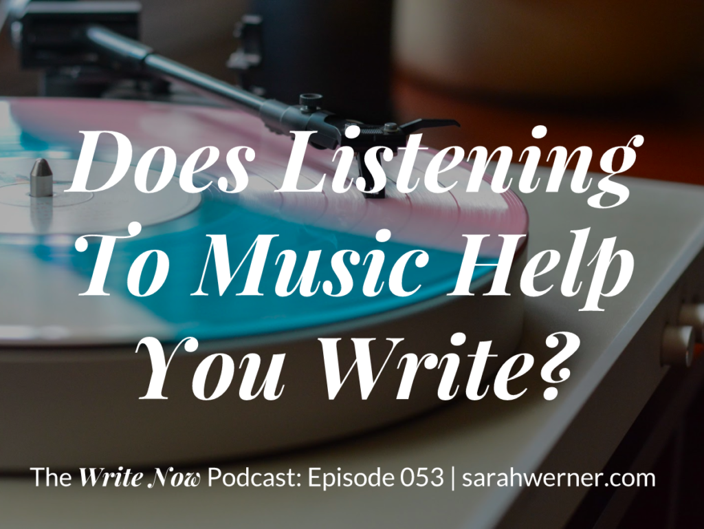 Does Listening To Music Help You Write? - Title Card