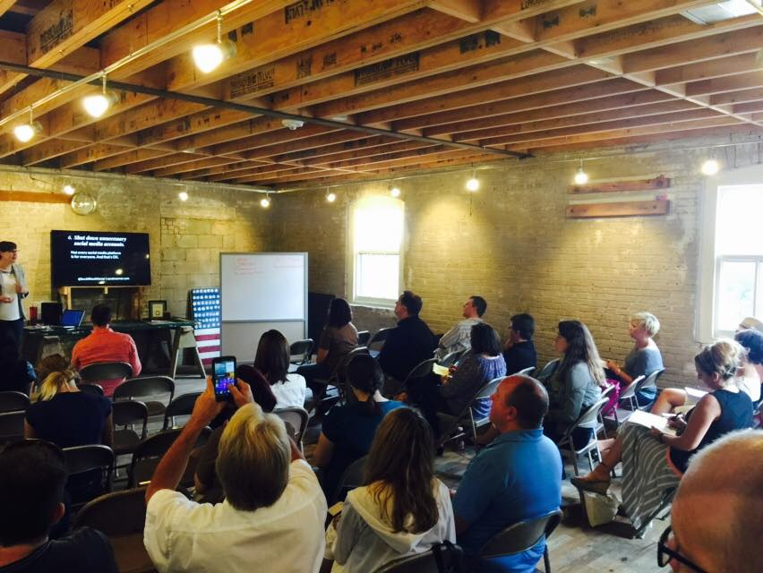Speaking at the Sioux Falls Young Entrepreneurs Meetup