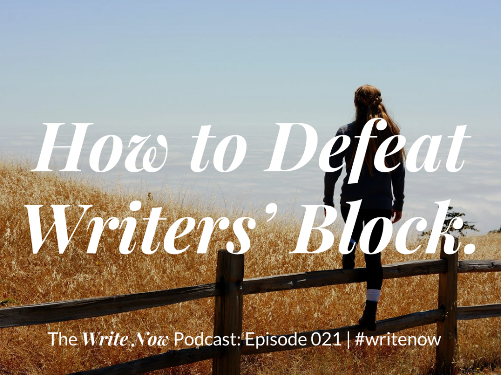How to defeat writers' block: Image of a woman climbing a fence