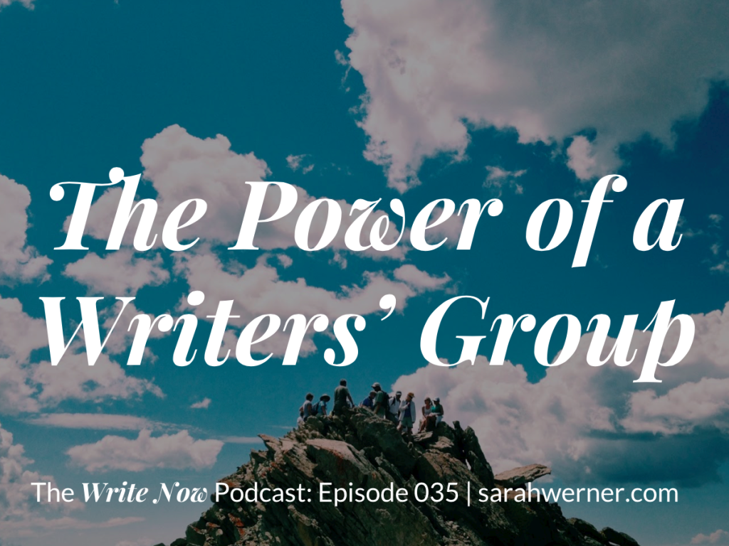 The Power of a Writers' Group Image