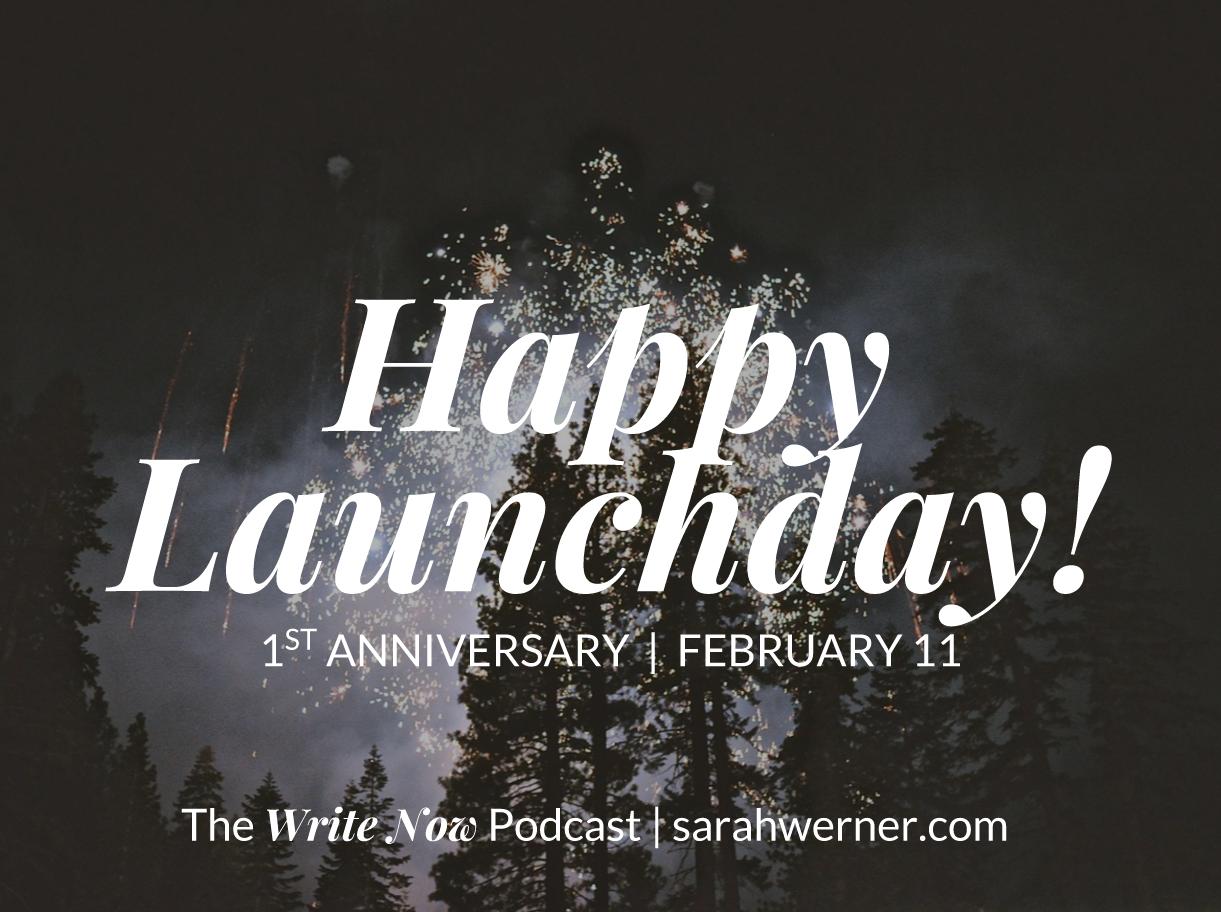 Sarah's Blog: Happy 1st Launchday Anniversary!
