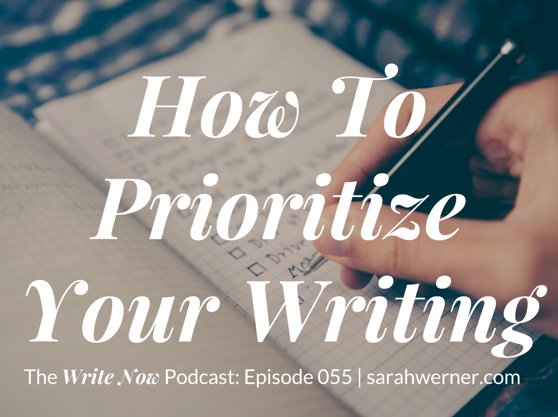How To Prioritize Your Writing – WN 055