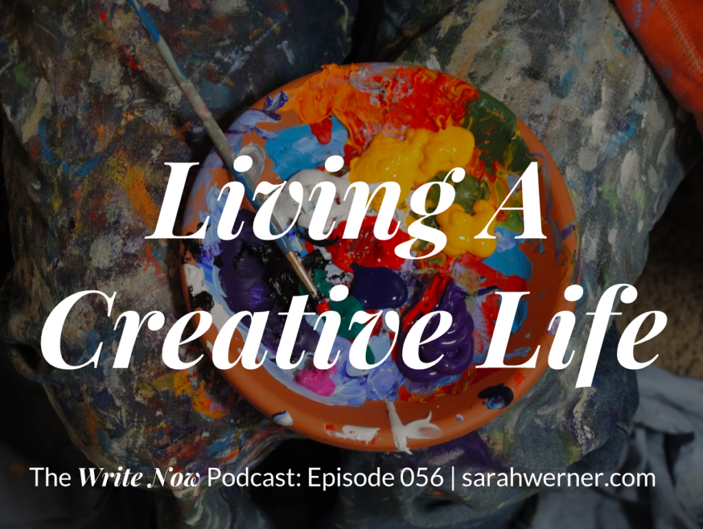Title card for living a creative life