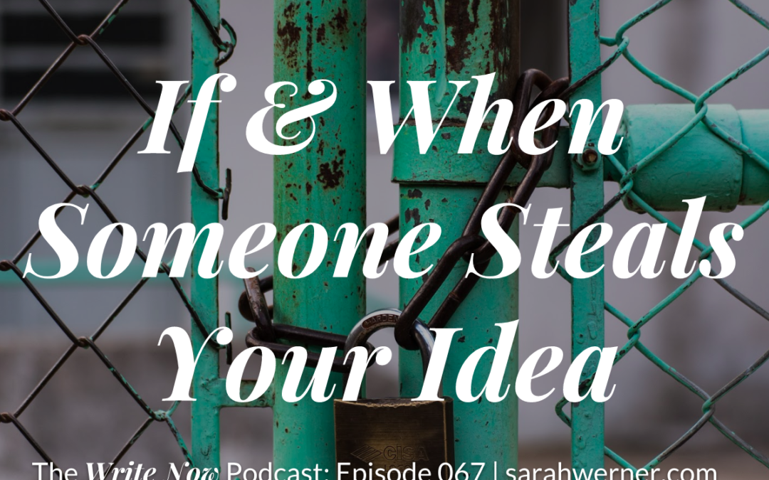 if and when someone steals your idea wnp 067 sarah rhea werner